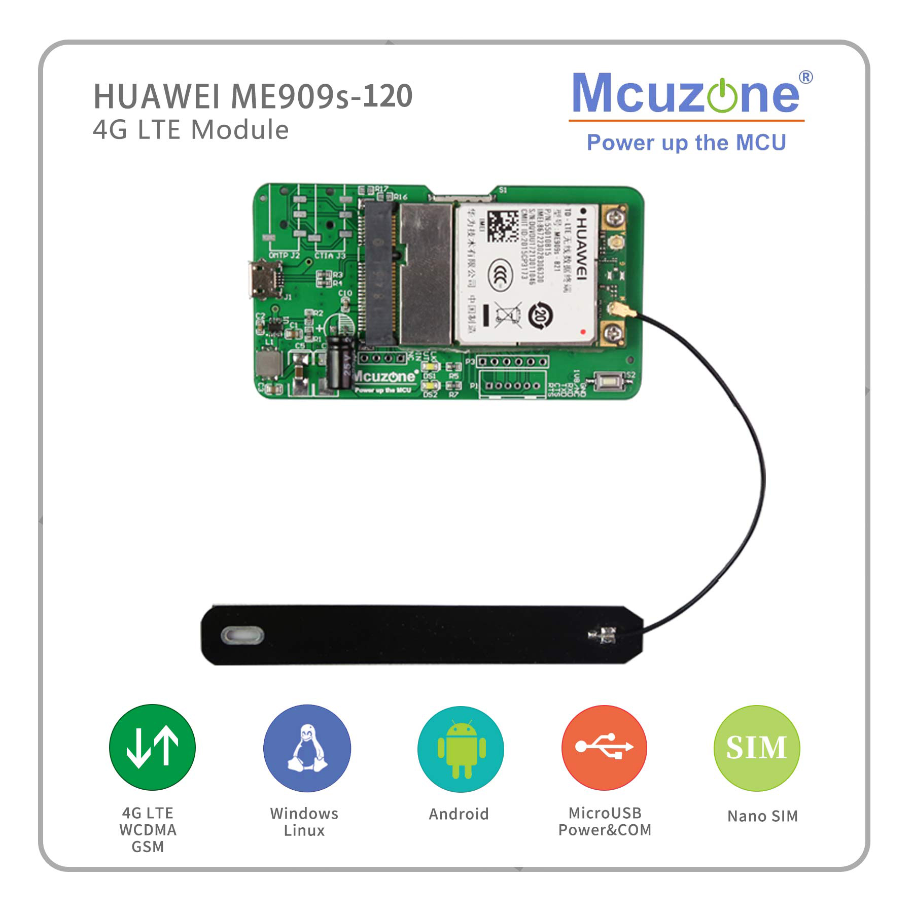 HuaWei ME909s-120 4G LTE Module For Raspberry Pi RK3399 Linux Windows Android 3308 Nanopi T