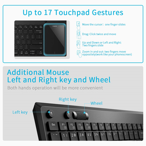 Image 4 - Rapoo K2800 Wireless TV Keyboard with Touchpad, Easy Media Control and Built in Big Size Touchpad