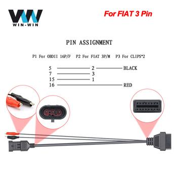 Dla samochód FIAT OBD2 16Pin przedłużacz kabla OBD do OBD2 16Pin Adapter złącza dla FIAT 3 Pin OBD 2 OBD2 samochodów diagnostyczne Auto narzędzie tanie i dobre opinie JFIND CN (pochodzenie) OBD2 Connector Cable Latest Version Plastic Kable diagnostyczne samochodu i złącza 0 1kg For FIAT 3 Pin OBD to OBD2 16Pin Connector Adapter