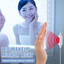 Светодиодный зеркальный светильник с умным датчиком usb гибкий