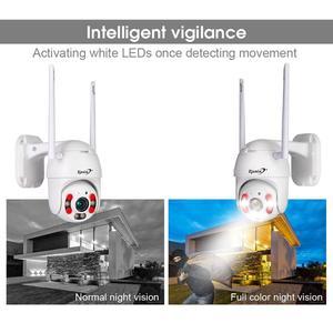 Image 5 - Zjuxin PTZ كاميرا IP واي فاي HD1080P اللاسلكية السلكية PTZ في الهواء الطلق CCTV الأمن كامرا ضوء مزدوج كشف الإنسان AI سحابة الكاميرا