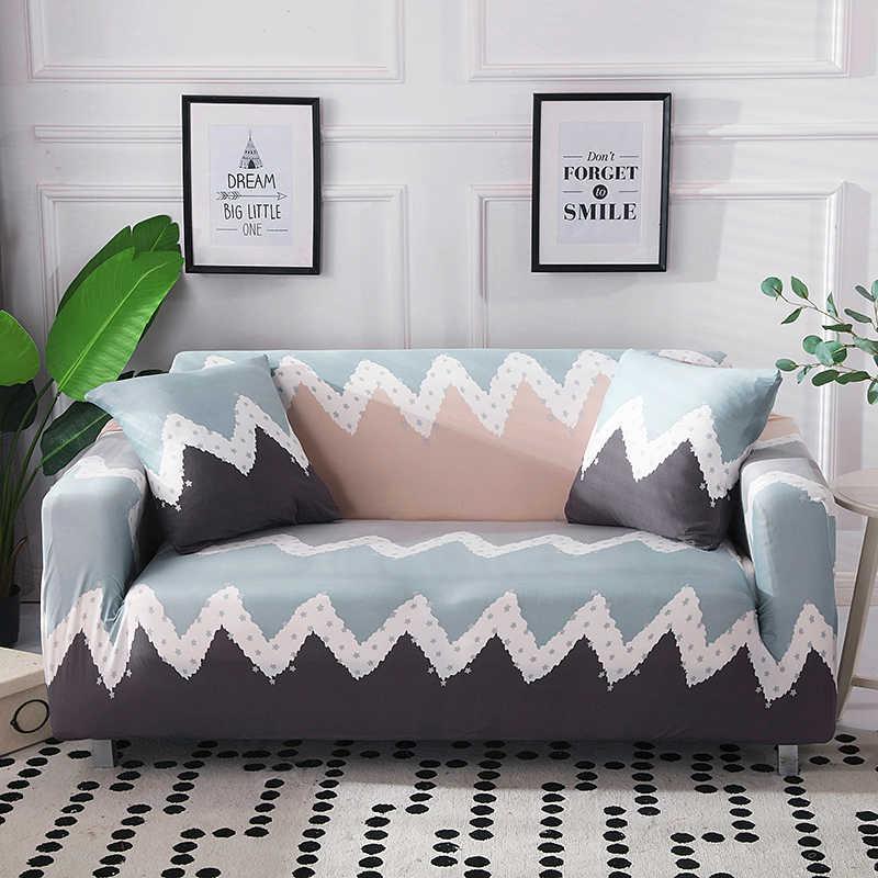 Геометрическая Печать стрейч чехлы для диванов обтягивает Обёрточная бумага все включено секционные 1/2/3/4 местный крышка чехлов для Гостиная