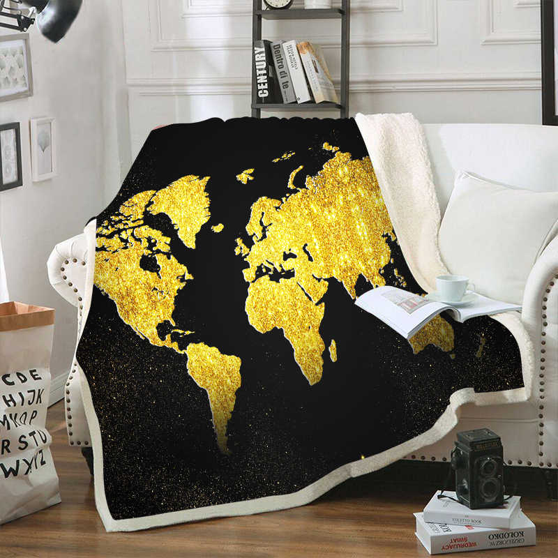 World Map 3d Printed Sherpa Blanket Couch Quilt Cover Travel Youth Bedding Outlet Velvet Plush Throw Fleece Blanket Tapestry
