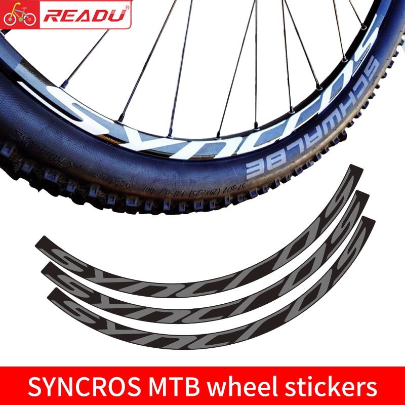 VTT SYNCROS roue ensemble autocollant vtt vélo décalcomanies 27.5 pouces et 29 pouces