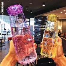 Najnowsza diamentowa szklanka wody 401-500ml bezołowiowa odporna na wysoką temperaturę przenośna woda pitna TI99 tanie tanio Aihogard Szkło Wielu kolor Ekologiczne 221034
