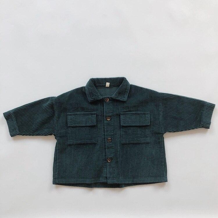 Kids Tops Coat Long Sleeve 2021 New Autumn Simplicty Corduroy Girls Coat Baby Jacket Boys Jackets Toddler Girl Winter Clothes 5