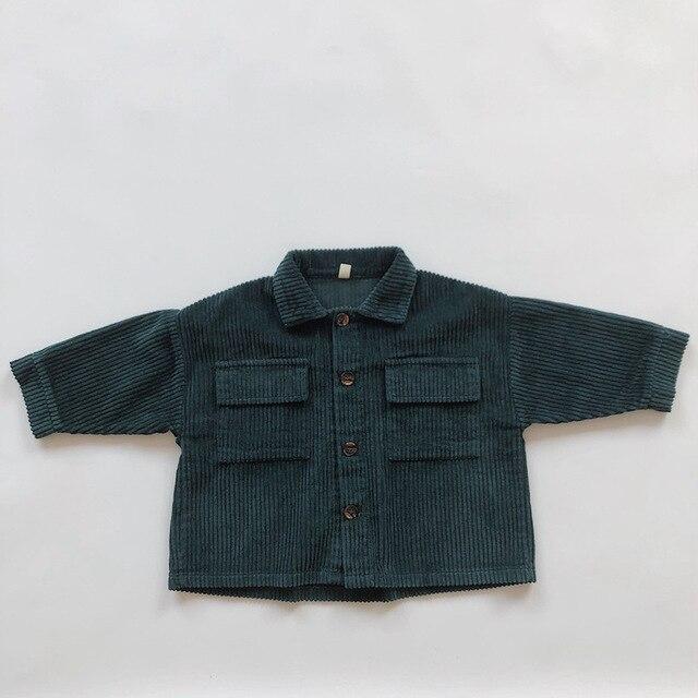 Kids Tops Coat Long Sleeve 2020 New Autumn Simplicty Corduroy Girls Coat Baby Jacket Boys Jackets Toddler Girl Winter Clothes 5