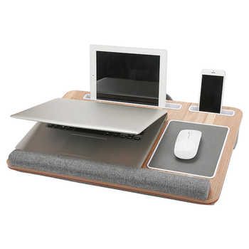 Multifunctional Laptop Desk Computer Table Portable Office Home Nap Pillow With Mouse Pad Suitable for Computers Under 17 Inches