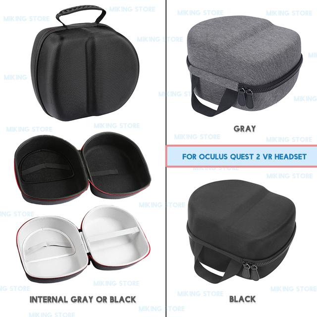 Oculus Quest 2 VR Headset Carrying Case Hard EVA Travel Storage Bag for VR Headset Controller Accessories 1
