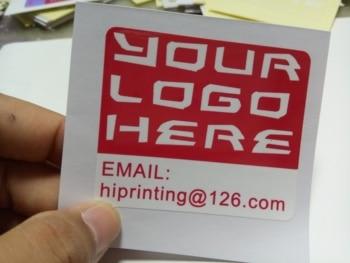 shine glossy sticker printing. custom
