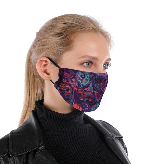 Bandana Reusable Mouth Mask Washable Face Mask With Filter Mask Fashion Adjustable Straps  Windproof Mouth-muffle Flu Mask 1