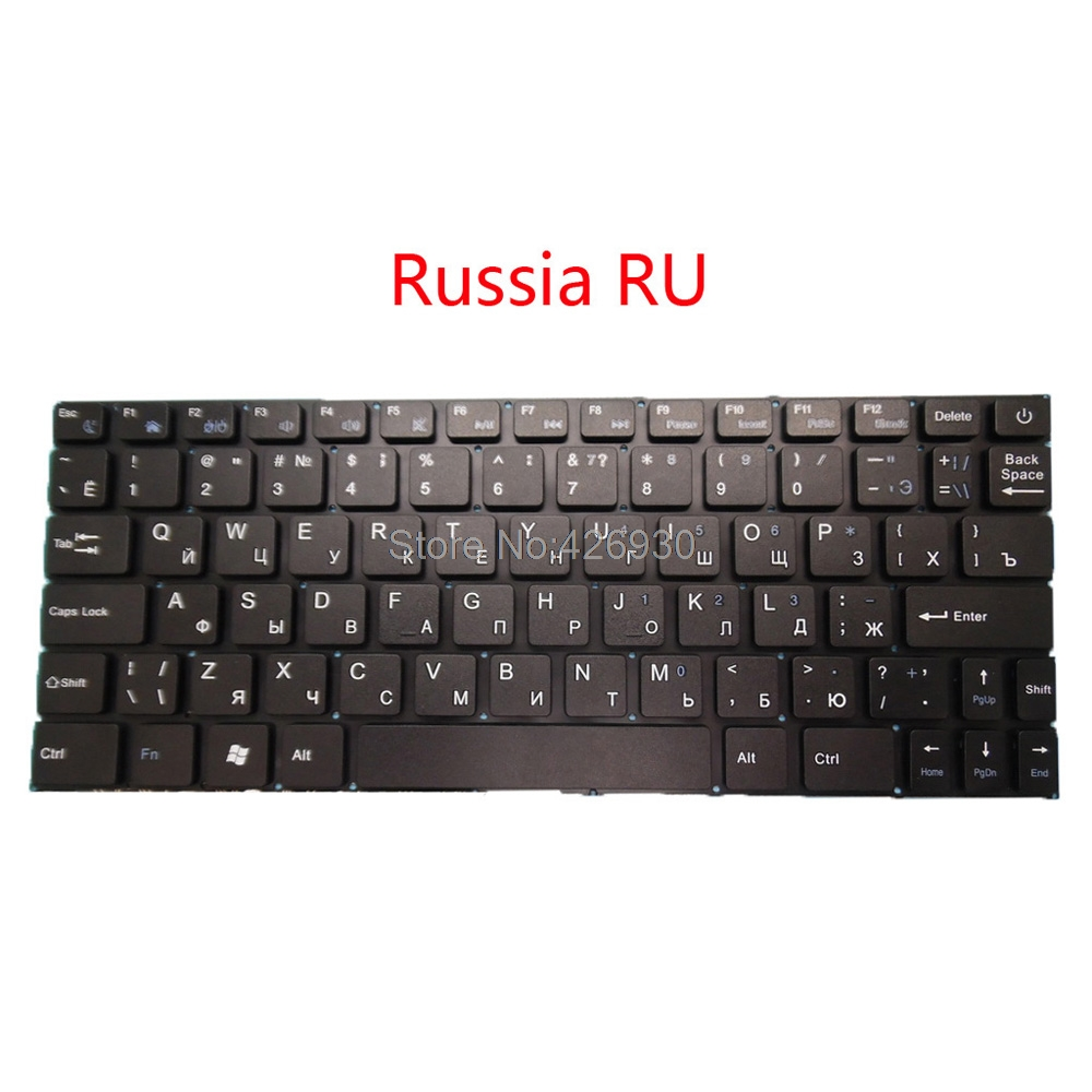 Laptop US RU Keyboard For Prestigio For Smartbook 116A 116A01 116A02 116A03 PSB116A PSB116A01BFW_RB_CIS English Russia New