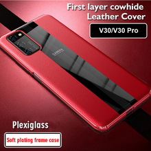 Luxury Genuine Leather Case For Huawei Honor V30 Pro 5G Case Leather Shockproof Back Cover funda Honor V30 Pro Protector Case