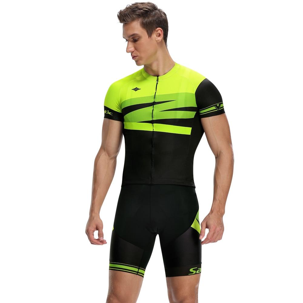 Santic Men Cycling Sets Cyling Jersey Bib Shorts MTB Bicycle Clothes Wear Maillot Ciclismo Bike Clothing Set Summer K20MT146