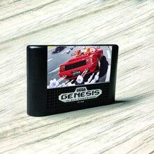 OutRun   USA تسمية flash kit MD بطاقة الذهب ثنائي الفينيل متعدد الكلور ل Sega نشأة megadve لعبة فيديو وحدة التحكم