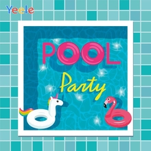 Yeele Summer Pool Party Photocall Swimming Unicorn Photography Backdrops Personalized Photographic Background For Photo Studio