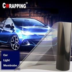 Filme vinil para névoa de 40*150cm, farol de carro à prova d'água, luz traseira capa estilizadora do carro