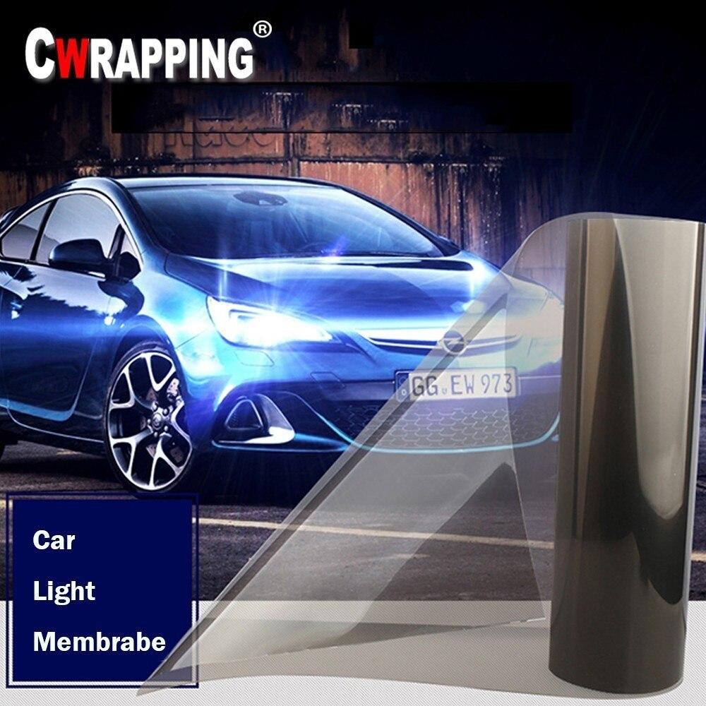 40*150cm carro auto fumaça nevoeiro luz farol taillight matiz folha de filme vinil adesivo à prova dwaterproof água corpo do carro filme capa estilo do carro