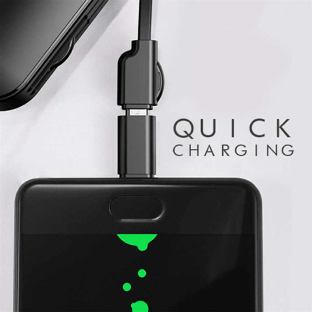 Charger Ponsel Universal Multifungsi Kabel Tanggal 3 In 1 Tipe-C 2 Port Swiss Gaya Portable Charger Kabel untuk iPhone untuk Android