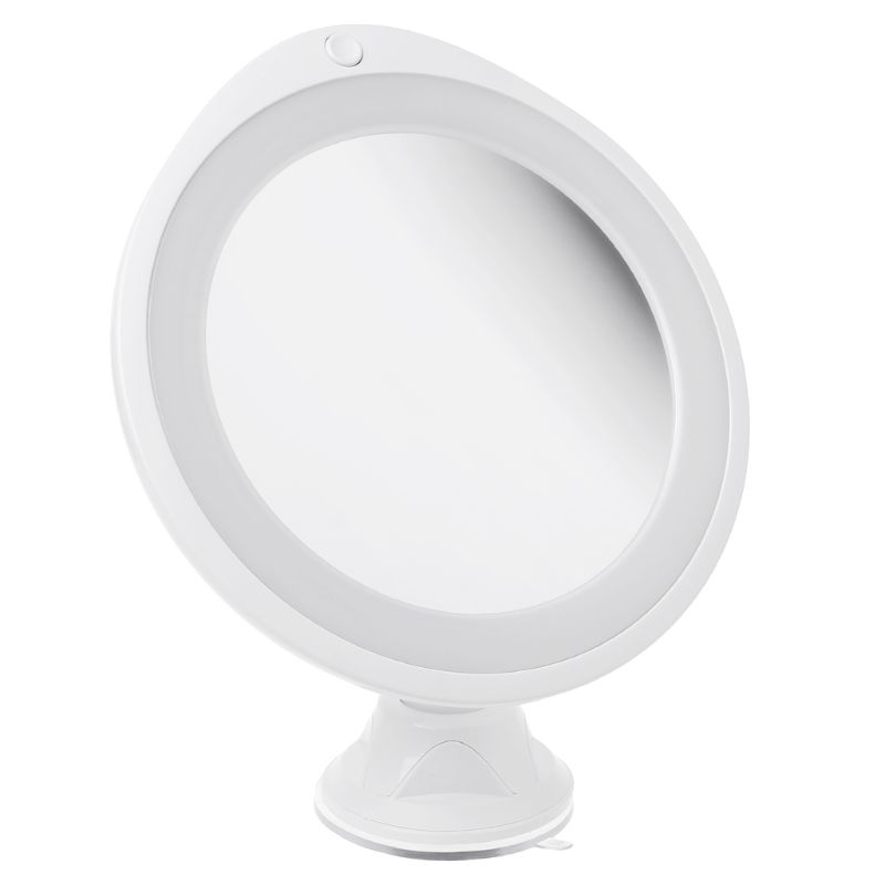 7X Magnifying Makeup Mirror With LED Light 360 Degree Swivel Vanity Mirrors