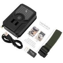 Açık su geçirmez taşınabilir 1080P 12MP avcılık takip kamerası Wildelife kızılötesi fotoğraf tuzak kamera avcılık aksesuar için