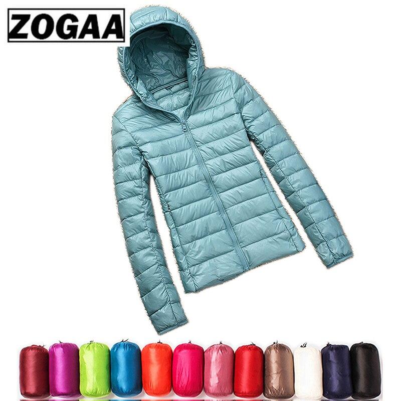Women Winter Ultra Light White Duck   Down   Jacket Fashion Casual Women Outerwear Plus Size Waterproof Hooded   Coat   Parka