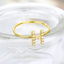 Модные a z Начальной Кольца для женщин утка вниз кольцо из нержавеющей