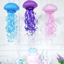 Русалка вечерние украшения подвесной фонарик медузы пастельные