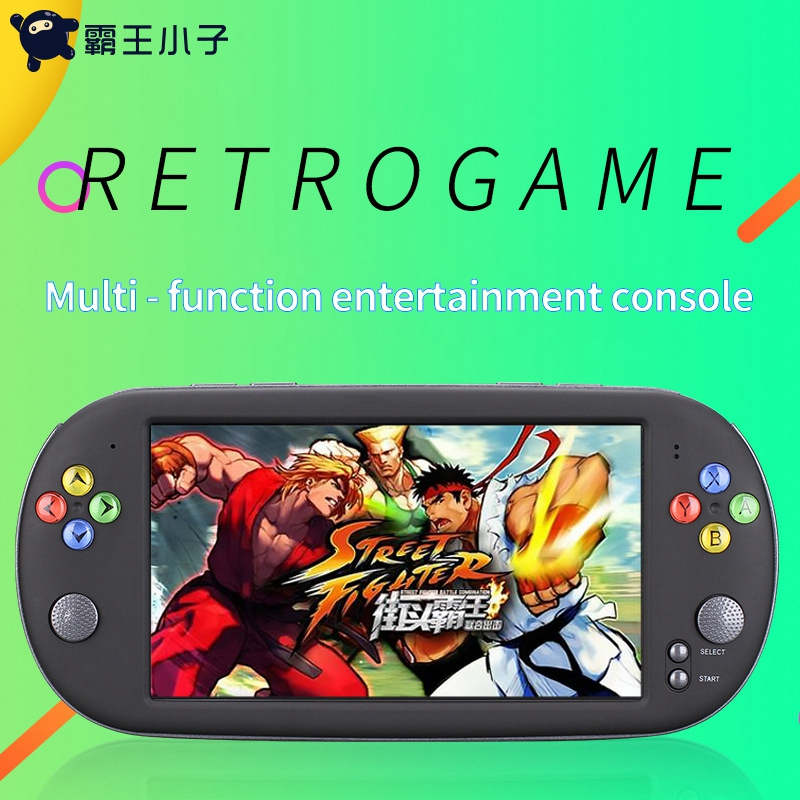 Powkiddy X16 7 Inch Game Console Handheld Portable 16GB Retro Classic Video Game Player for Neogeo Arcade Handheld Game Players