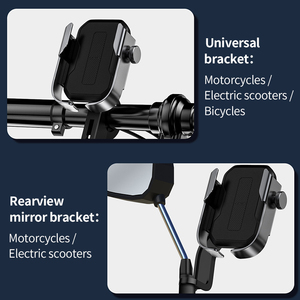 Image 2 - Baseus Bike Phone Holder Universal Bicycle Motorcycle Handlebar Stand Mount Electric Scooters Rearview Mirror Phone Stand Holder
