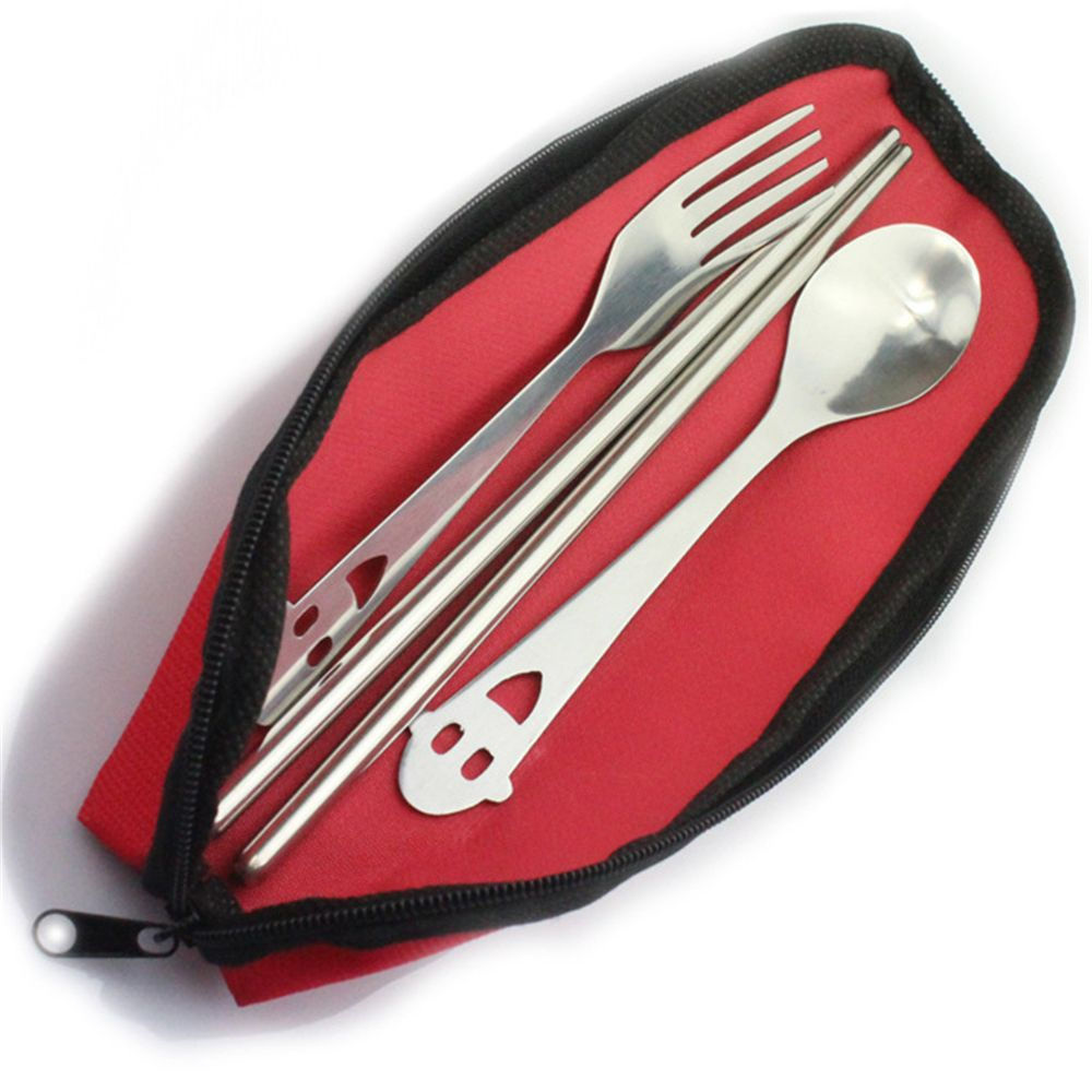 portable Camping Backpacking Utensils Case & Travel accessories Cutlery Bag for Spoon and Fork Cloth Bag Lunch Tools Hot Sale