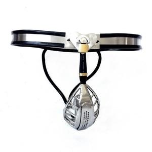 Image 3 - זכר צניעות חגורת צניעות נירוסטה כלובי פין נעילת זין כלוב משחק למבוגרים פין איפוק התקנים עבור גברים