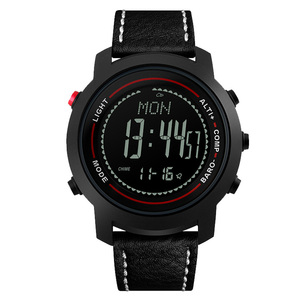 Image 2 - MG01 Outdoor Sport Smart Watchwristwatches Kompas Hoogtemeter Barometer Lederen Band Fashion Outdoor Horloges Klok Relogio