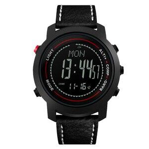 Image 2 - MG01 açık spor akıllı WatchWristwatches pusula altimetre barometre deri bant moda açık saatler saat Relogio