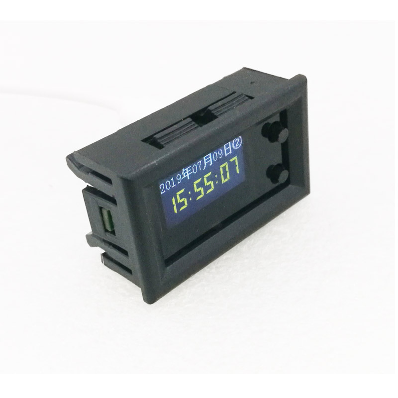 IPS Screen Mini Multimode 6 Colors LCD Music Spectrum Display Module Plug Play Product Support Mono/Dual Channel Clock Calendar