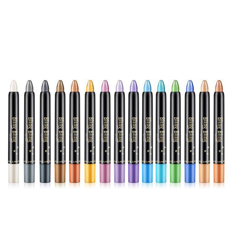 Waterproof Long Lasting Pearly Luminous Eye Shadow Stick Beauty Shimmer Highlighter Eyeshadow Pen Stick Lying Silkworm Pen TSLM1 1