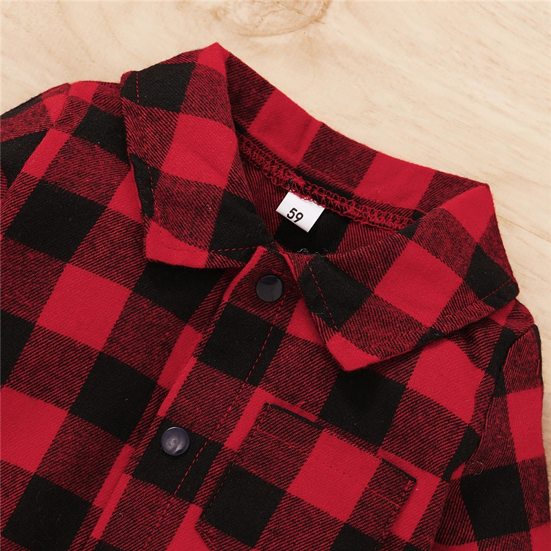 Newborn Cotton Casual classic Plaid Collar Jumpsuit for Baby Boy, Baby Girl | Three Colors