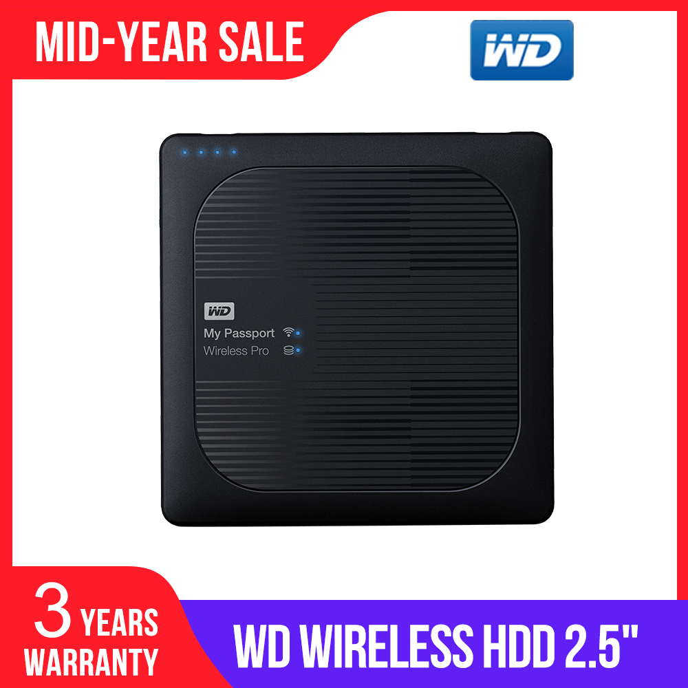 WD External Hard Usb-3.0-Battery Drive-Wifi Portable Wireless-Pro 4TB 3TB 2TB Up-To-10-Hours