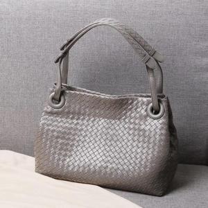 Image 1 - woman Genuine leather  manual  Weave Single shoulder large volume package  Woman  High quality  Inner zipper bag  Shoulder strap