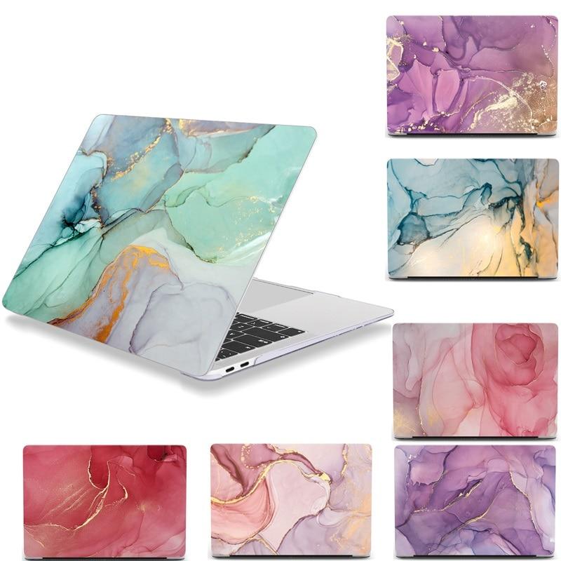 Caso para macbook ar pro 12 13 15 16 polegada mármore glitter fosco para macbook air 13 caso a2179 a1932 a2337 2020 pro 13 a2251 a2289