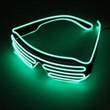 Очки с мигающими светодиодами EL проволочные очки светящиеся вечерние принадлежности освещение новинка подарок яркий свет Хэллоуин, праздничная вечеринка Декор