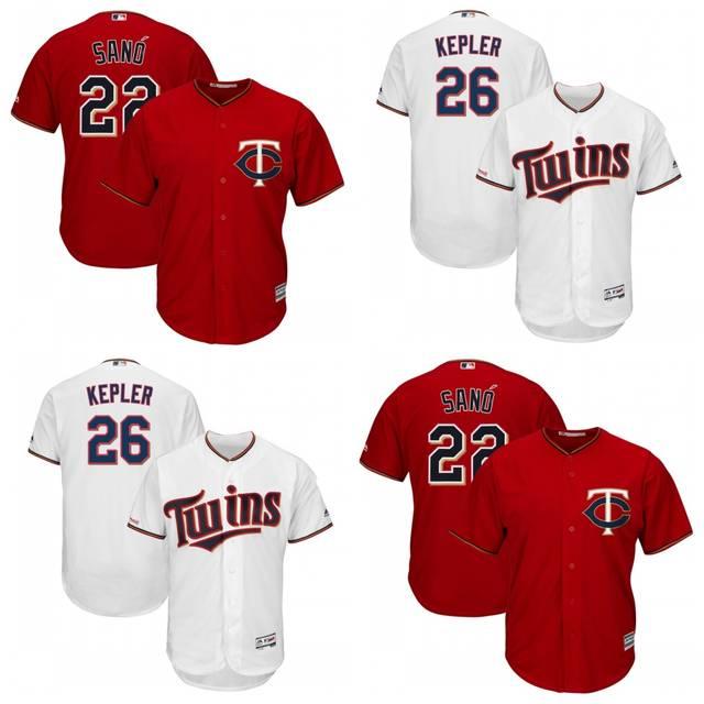 quality design 20531 945c0 2019 Minnesota All stitched Men's player Miguel Sano 22 Max Kepler 26  jerseys