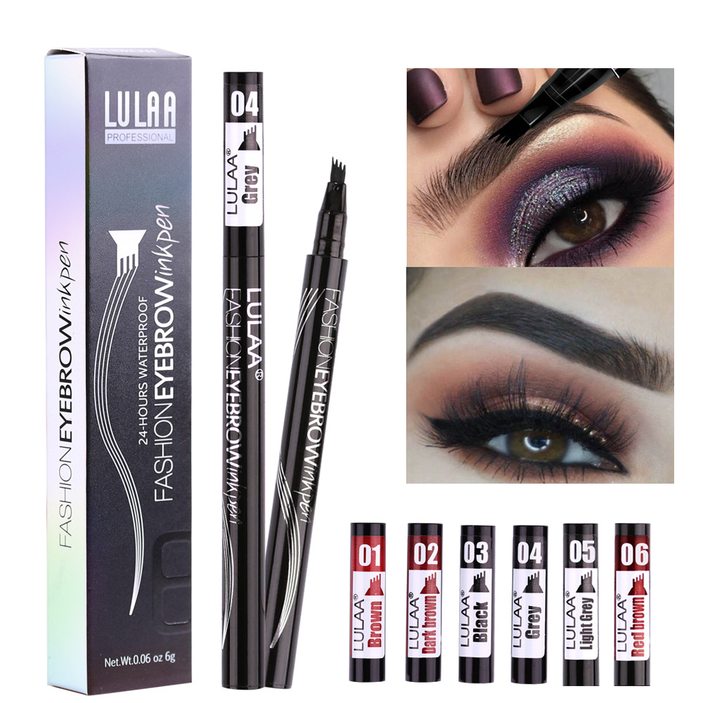 6 Tint Dye Waterproof  Eyebrow Pencil Eyebrow Shadow For Eyebrows  Makeup Waterproof Long Lasting  Sketch Liquid Eyebrow Wax