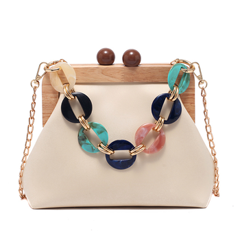 Luxury Designer Acrylic Chain Women Shoulder Crossbody Bags Fashion Handbag Evening Clutches Ladies Messenger Bag Female Purse chinese old school style women red silk floral appliques beading sequins embroidery metal frame evening clutches purse handbag
