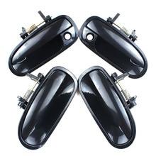 LARBLL 4 Pz/set Auto Anteriore Posteriore Sinistra Destra Nero Al di Fuori Maniglia Esterna Della Porta per Honda Civic EK3 1996 2000