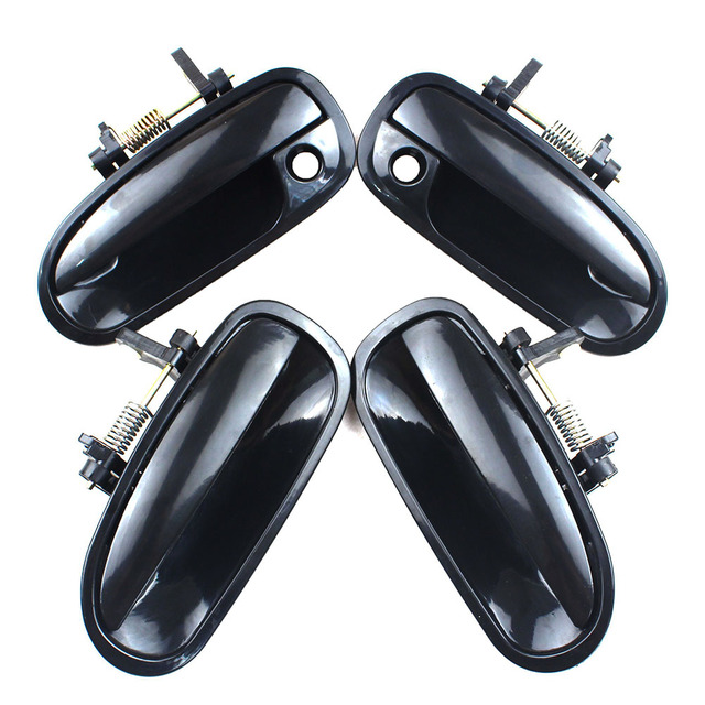 LARBLL 4PCS/Set Car Front Rear Left Right Black Outside Exterior Door Handle for Honda Civic EK3 1996 2000