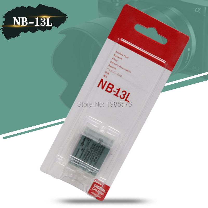 NB-13L NB 13L NB13L Digital Camera Battery for Canon PowerShot G5 X G5X G7 X Mark II G7X G9 X G9X SX720 HS image