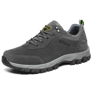 Image 2 - Мужские дышащие ботинки для походов, кемпинга, альпинизма, треккинга, горного туризма, мужские спортивные кроссовки для рыбалки и охоты