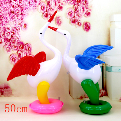 2pcs New Children's Cartoon Toys Summer Stall Supply Manufacturers Hot Inflatable Animals Crane 50cm High
