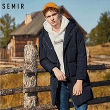 Semir 2020 novo inverno men down jacket 2xl extra longo pato para baixo casaco engrossar quente à prova de vento masculino outwear